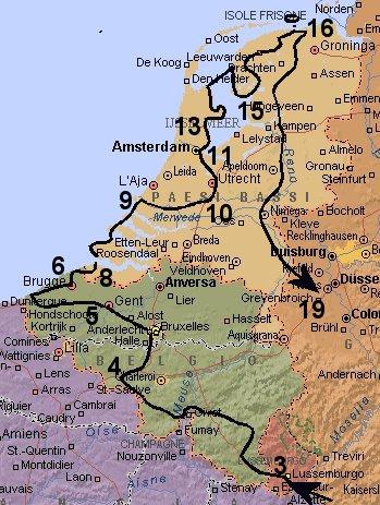 Olanda Cartina Turistica.Belgio E Olanda 2002