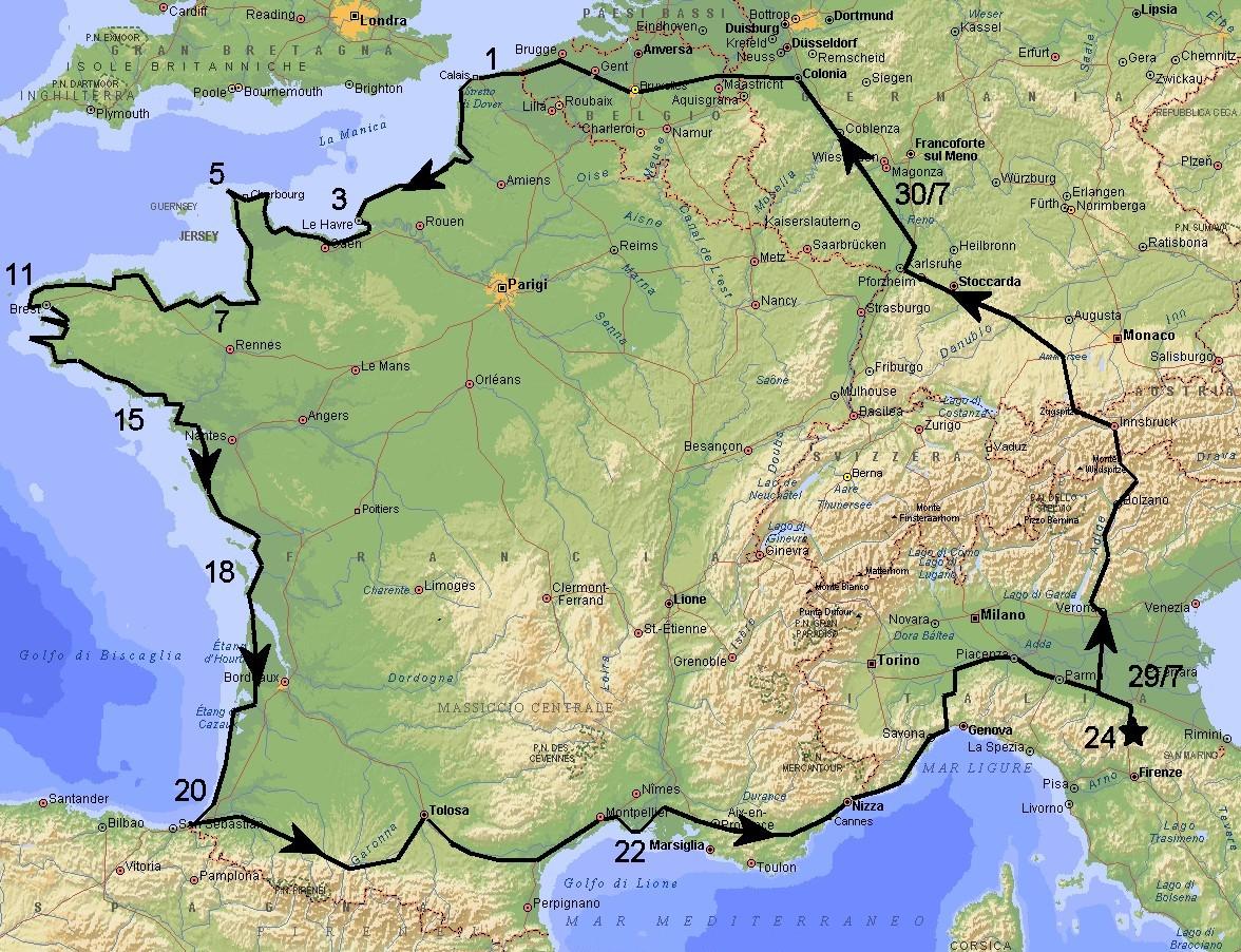 Cartina Fisica Francia Montagne.Itinerario Di Avvicinamento A Calais Forum Ti