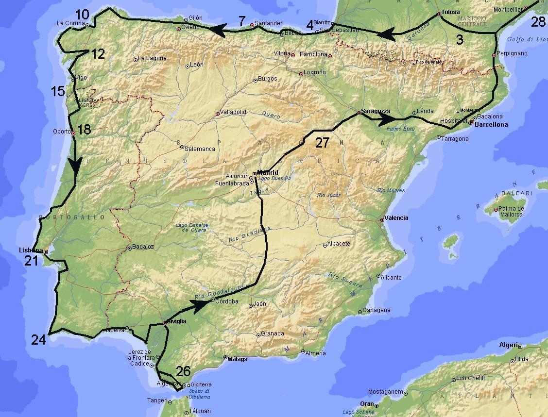 Portogallo E Spagna Cartina.Spagna Del Nord E Portogallo 2007